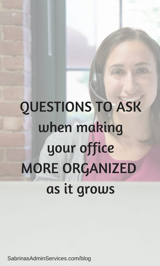 Questions to Make Your Office More Organized When Business Grows