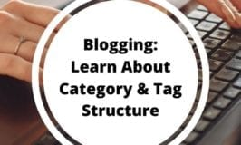 Blogging - learn about Category and Tag Structure