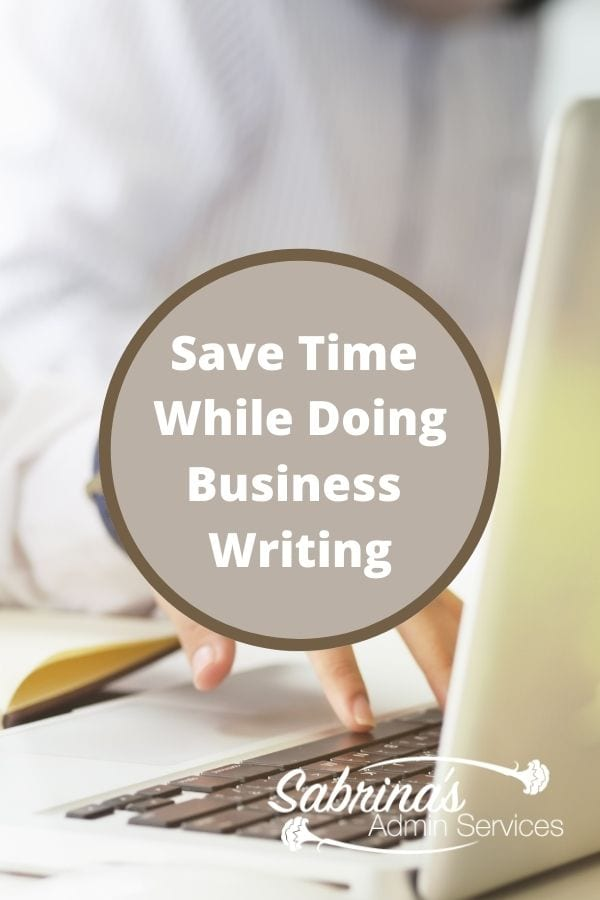 Save time while doing your business writing title image