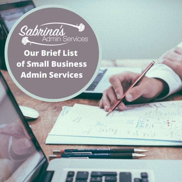 Sabrinas Admin Services Brief List of Small Business Admin Services square featured image desk in image