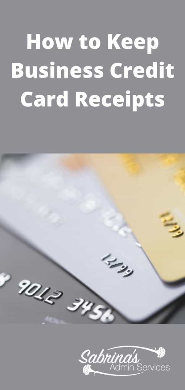 How to Keep Credit Card Receipts Organized - long image
