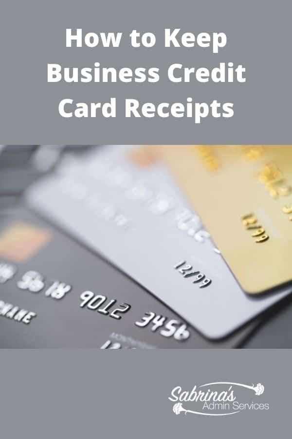 How to Keep Credit Card Receipts Organized - featured image