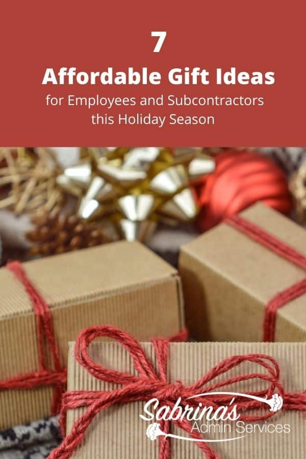 7 Affordable Gift Ideas for Employees and Subcontractors - featured image